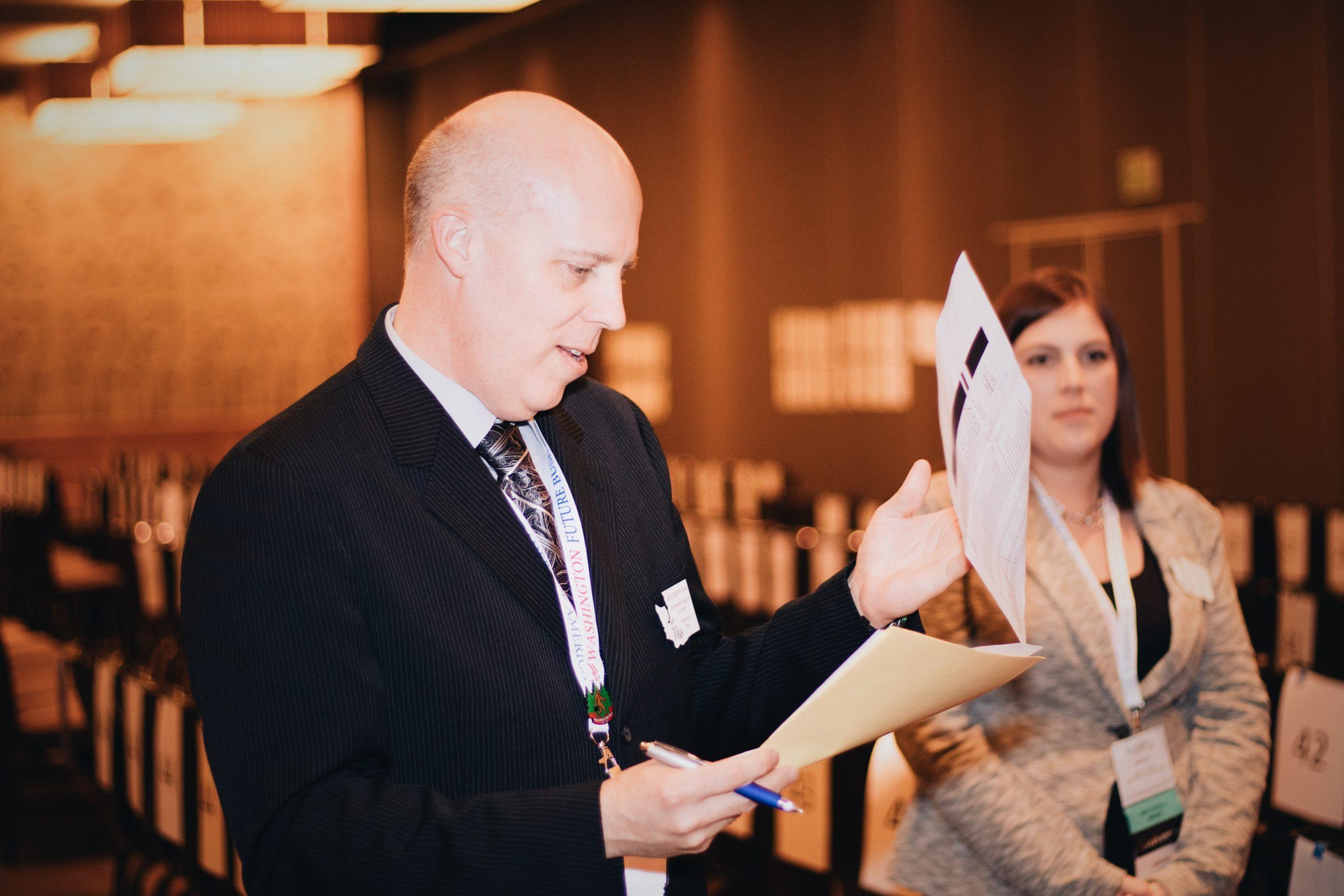 Helping at Washington FBLA Conferences